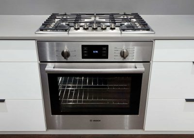 Premium Bosch integrated stainless-steel appliance package